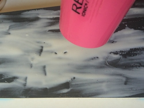 Use a blow dryer on the glue to get perfect Crackle Paint