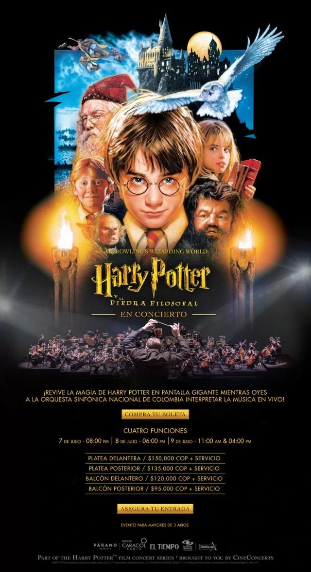 Harry Potter y La Piedra filosofal en concierto en Bogotá