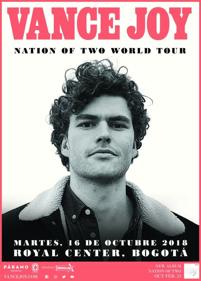 "Vance Joy regresa a Colombia con su ""Nation of Two World Tour"""