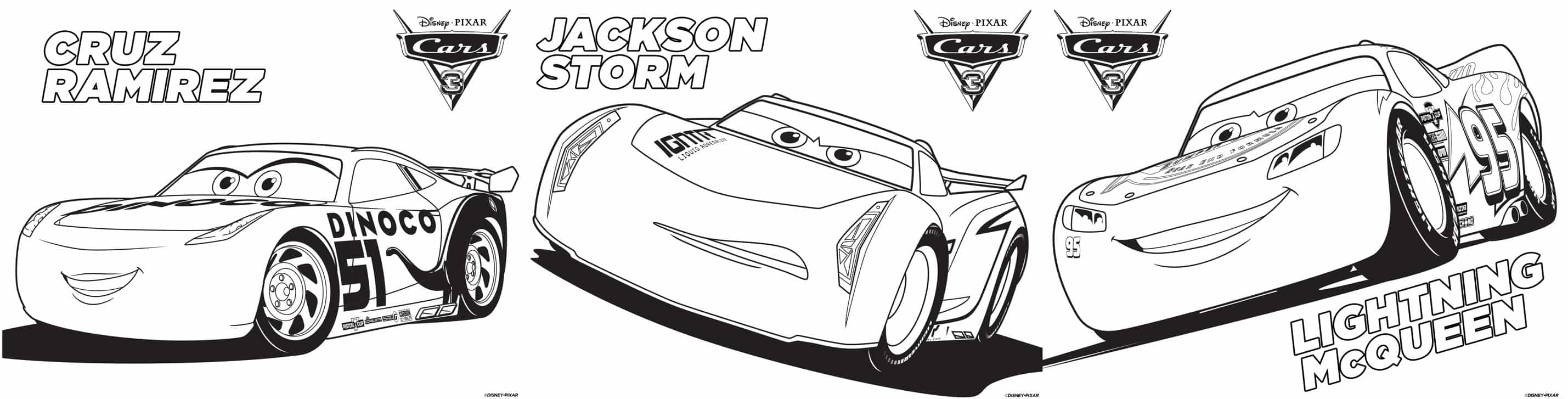 coloring pages jackson storm cruz ramirez lightening mcqueen
