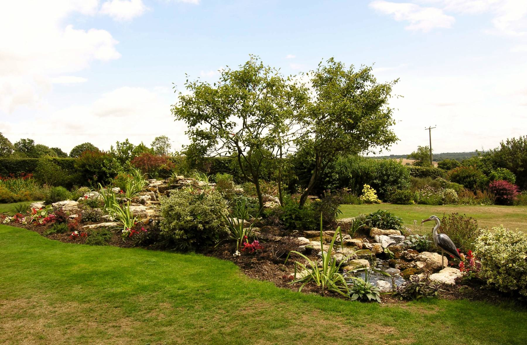 Raised rockery and Pond