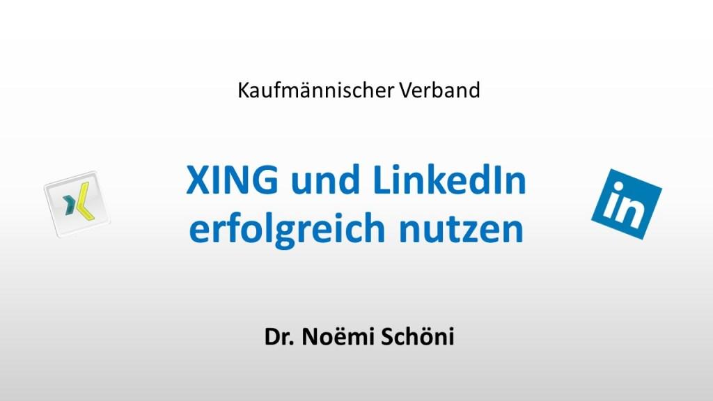 3.3.2 XING und LinkedIn erfolgreich nutzen