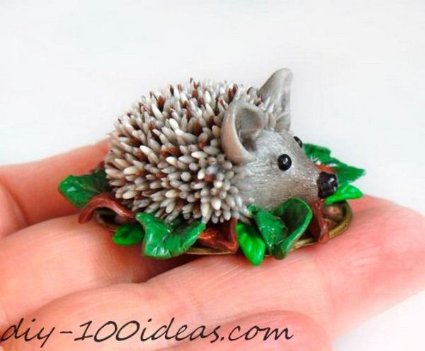 Polymer clay hedgehog TUTORIAL (1)