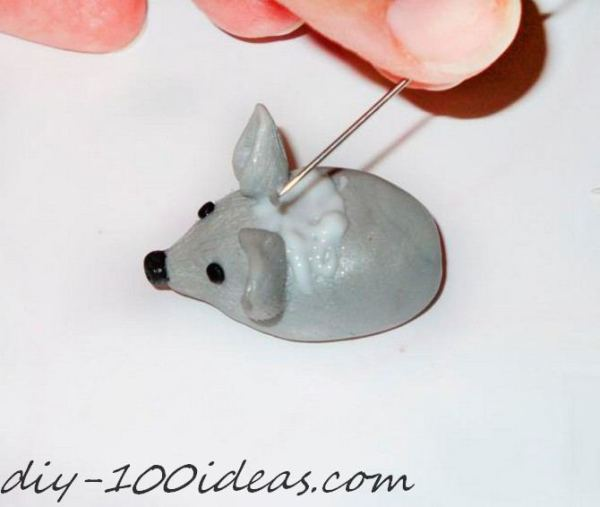 Polymer clay hedgehog TUTORIAL (19)