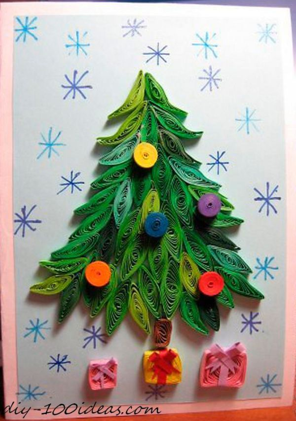 Quilling Christmas Card (10)
