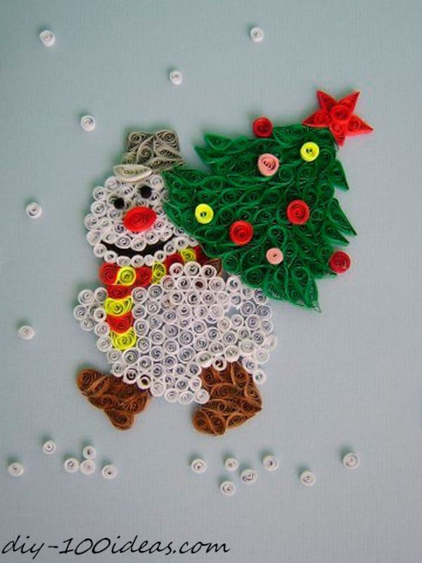 Quilling Christmas Card (18)