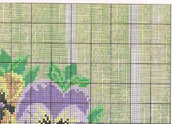 pansy cross stitch pattern free (4)