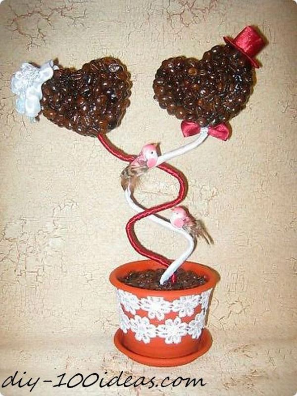 Heart topiary trees (2)