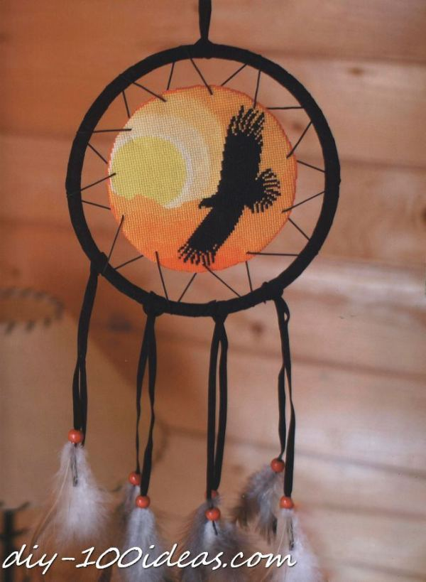 Free cross stitch pattern Dreamcatcher (1)