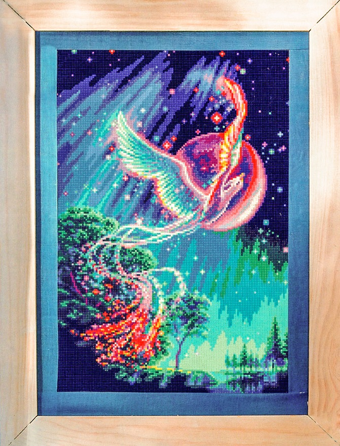 cross stitch pattern phoenix