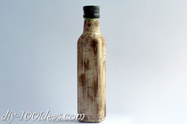 Decoupage Olive oil bottle  (4)