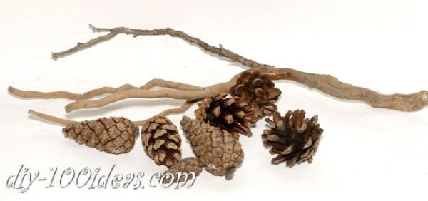 bonsai tree with pine cones (2)
