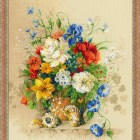 Wildflowers cross stitch pattern