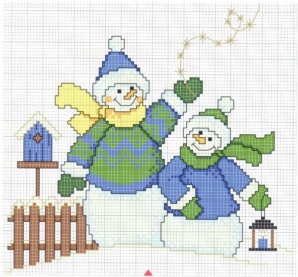 free_cross_stitch_pattern_snowman-12