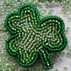 DIY Shamrock Brooch