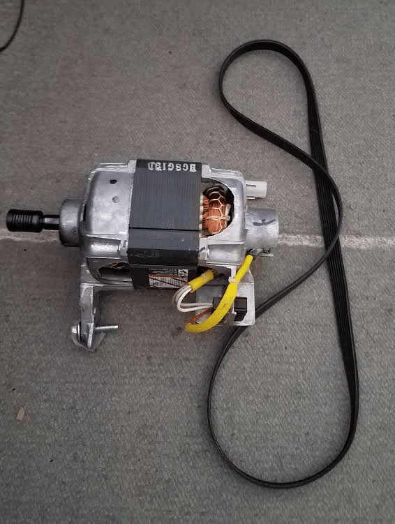 Whirlpool Front Load Washer Motor Part # W10140583 and Belt Part # W10388414
