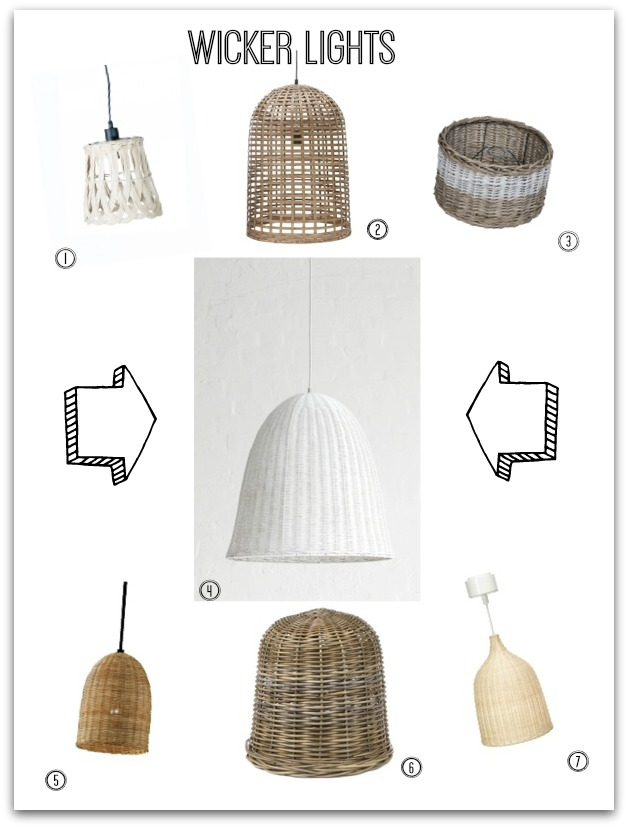 Wicker Basket Lights