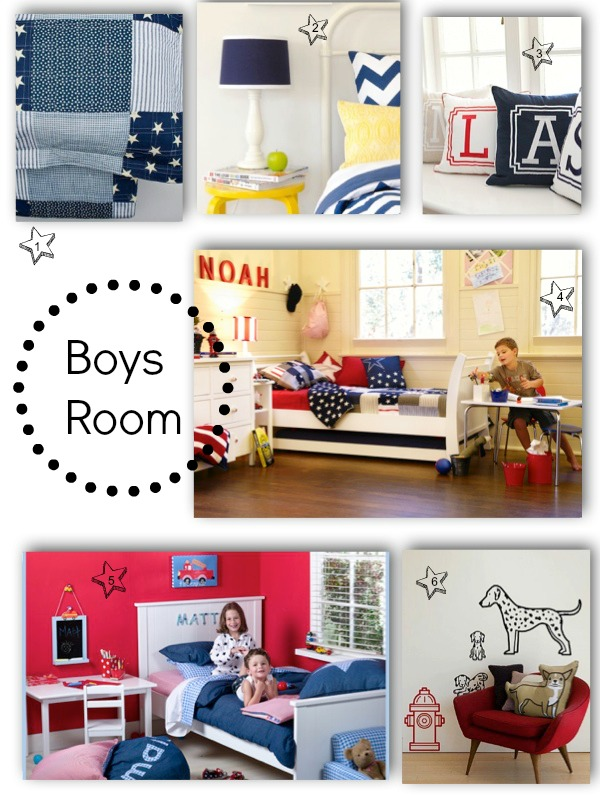 Boy's Bedroom Collage