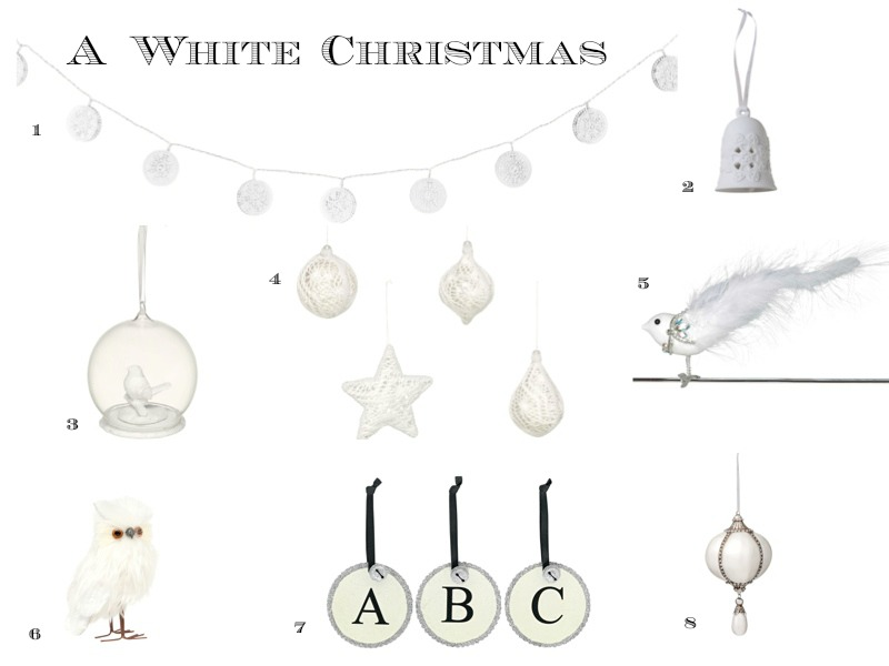 White Christmas Decorations