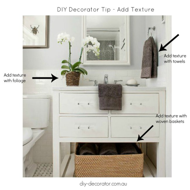 Add texture to your bathroom