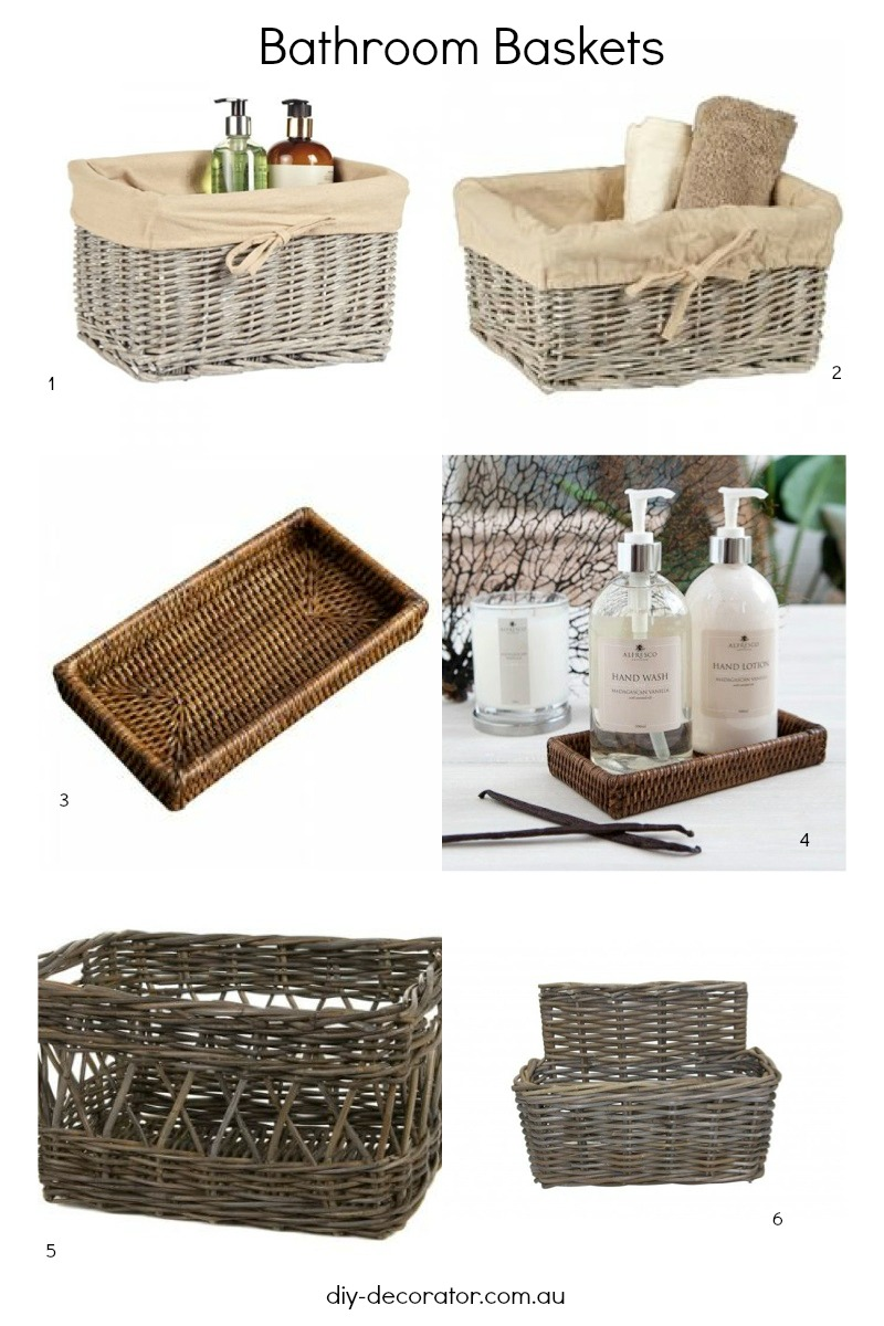 Bathroom Baskets Roundup Diy Decorator