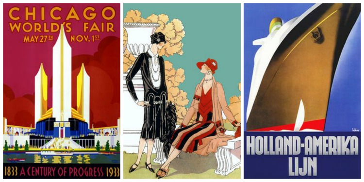 Art Deco Poster Collage
