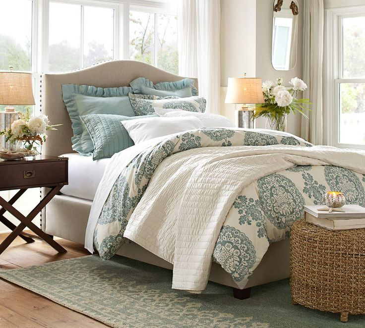 Pottery barn rug under bedHow to Choose the Right Size Rug for a Queen Bed   DIY Decorator. Rug Size For Bedroom With Queen Bed. Home Design Ideas
