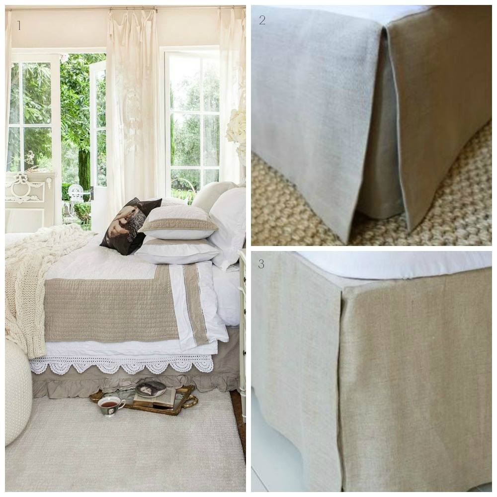 Linen Bed Valance