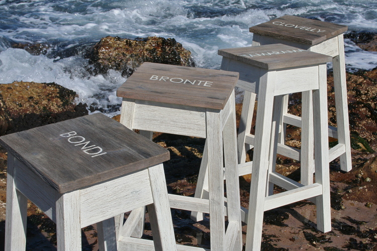 Coastal stools from Rustic Coast