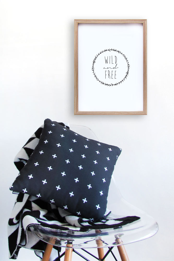 Wild and Free print by Senna Jean
