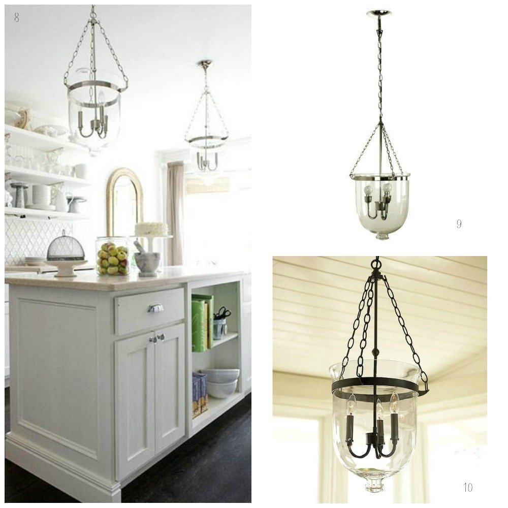 Hamptons Style Lighting: Glass Pendant Lights For The Kitchen