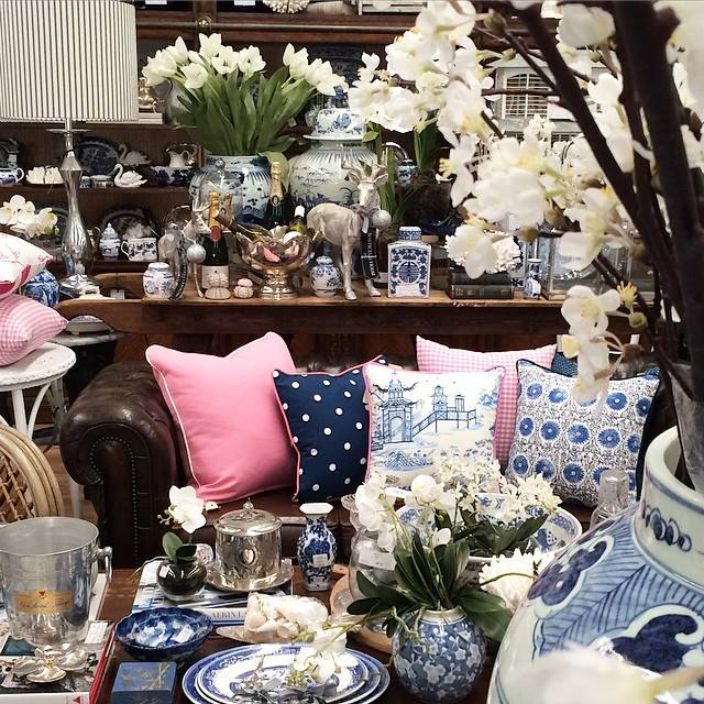decorating with blue and white Botticelli House