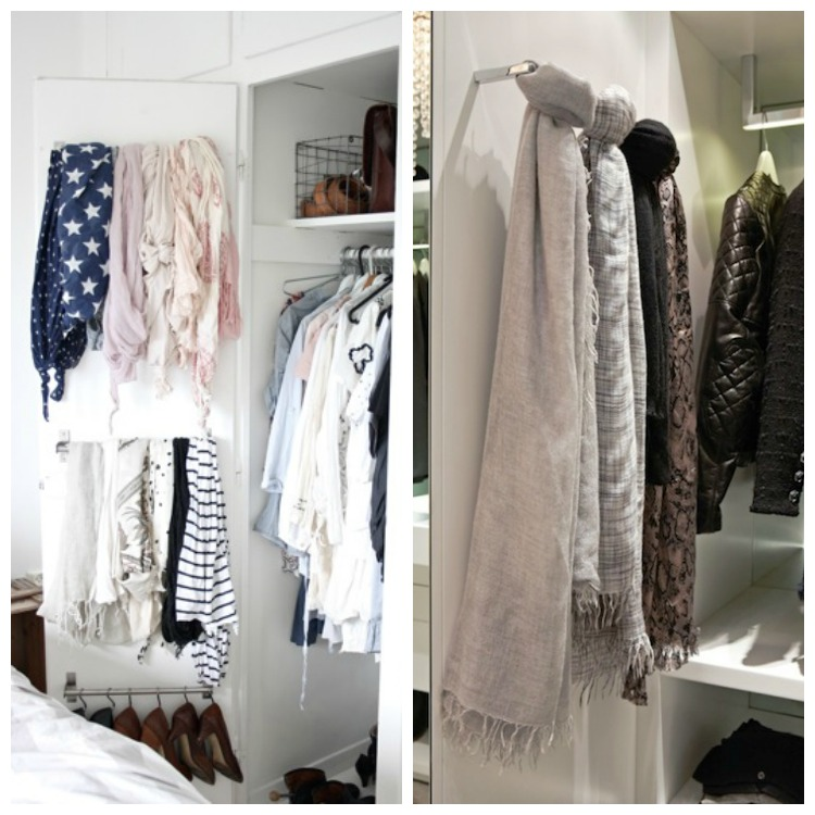 5 ways to store your scarves