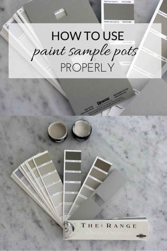 How to use paint sample pots