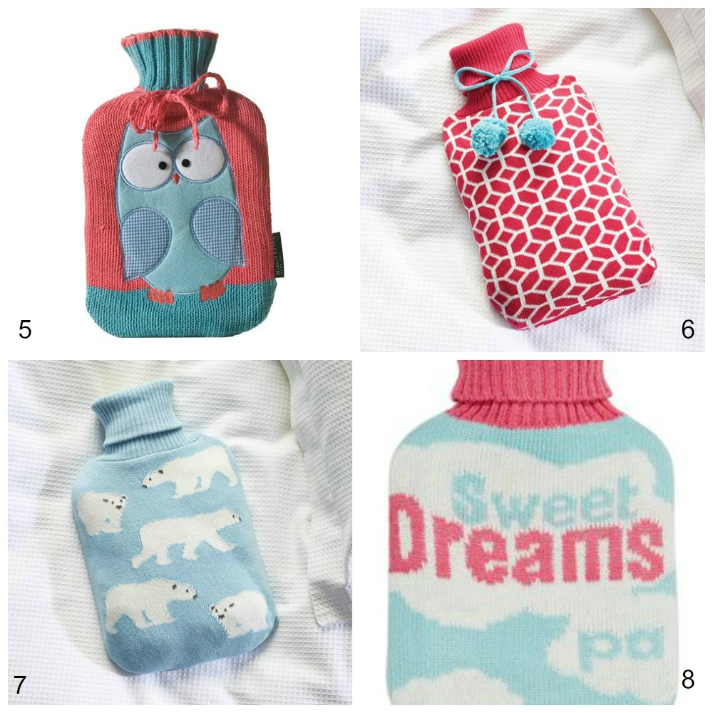 Hot Water Bottles covers blues