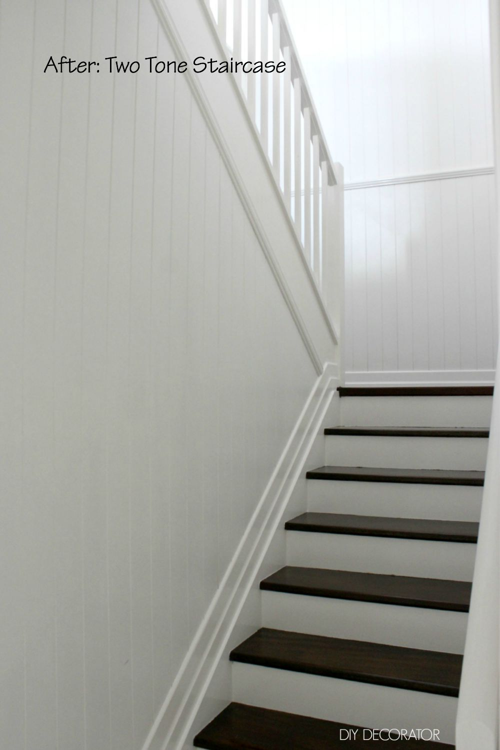 DIY Two Tone Staircase