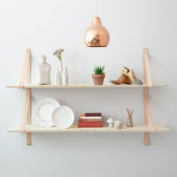 Leather Strap Shelves