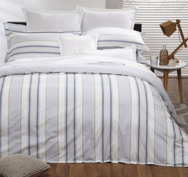 Simple stripe bed linen for the guest room