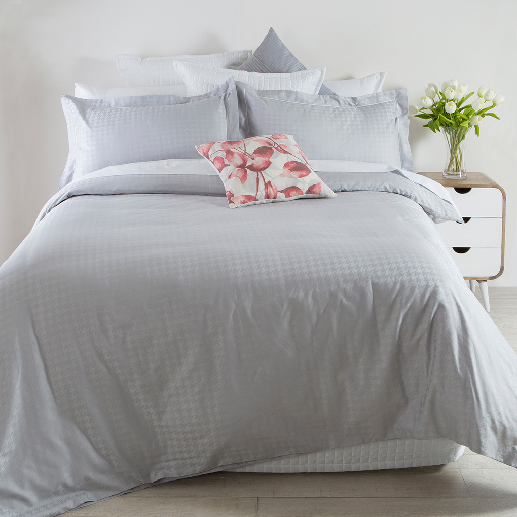 Bed linen for the guest room soft grey