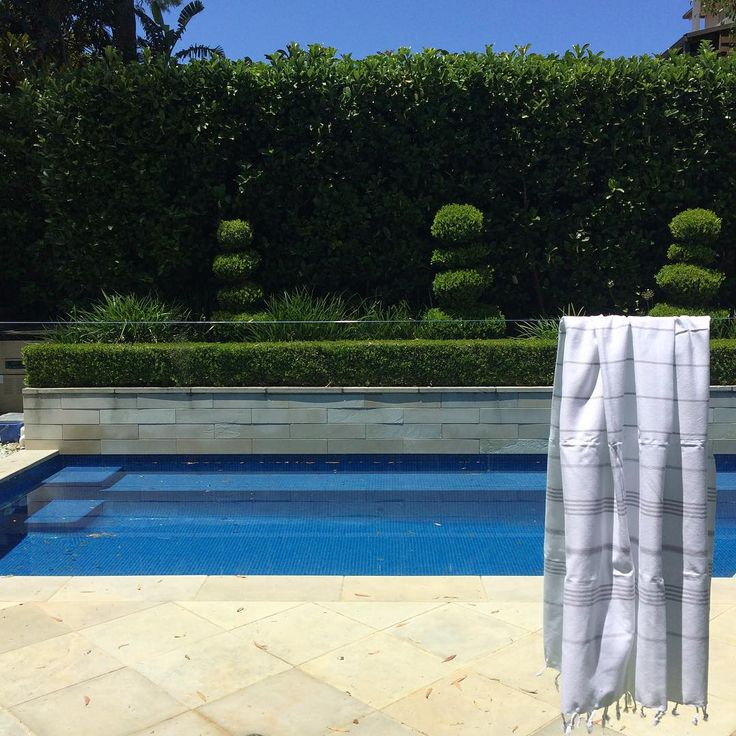 elegant pool garden turkish towel