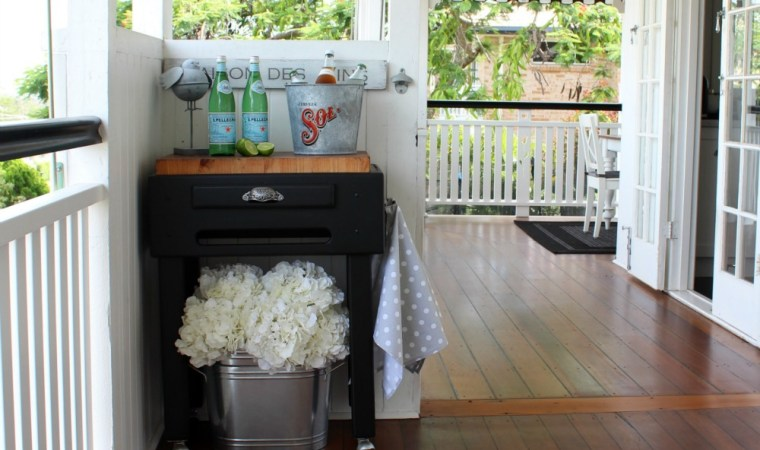 butchers block makeover Queenslander deck