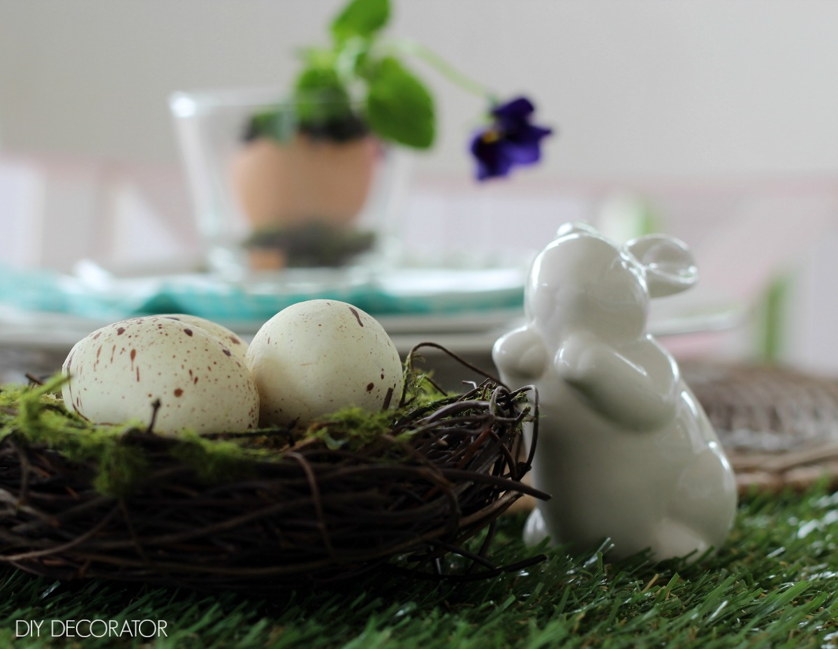 easter flowers eggshell birds nest