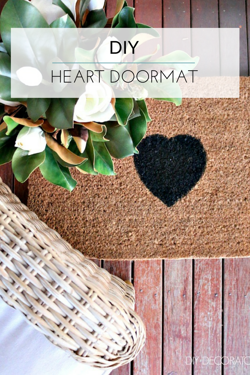 DIY Heart Doormat