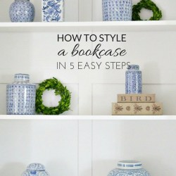Style a bookcase