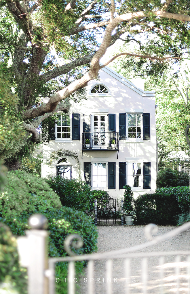 white exterior paint colour with black trim
