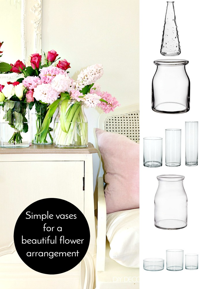 Flower Vignette Simple Vases for beautiful flower arrangement