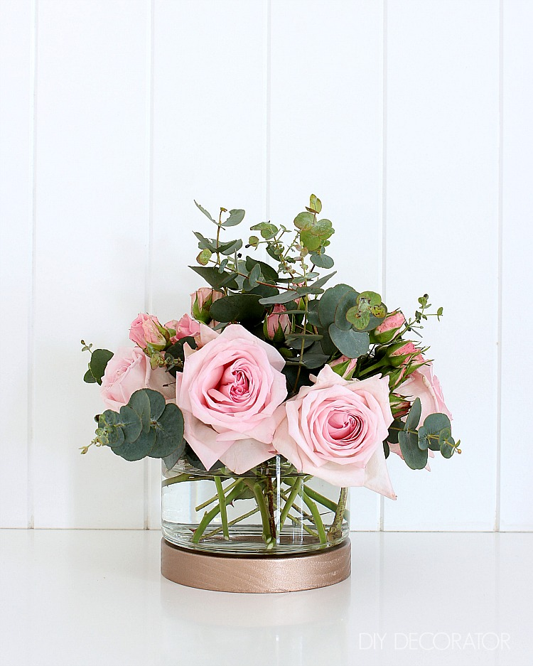 Kmart hack rose gold vase