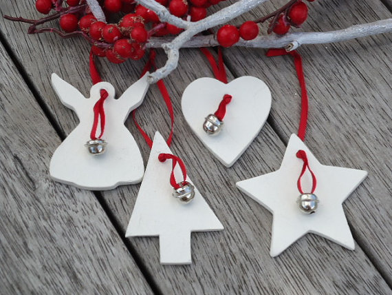 Handcrafted Christmas Decorations Clay Ornaments