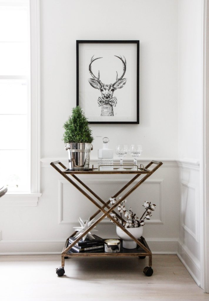 Christmas Bar Cart