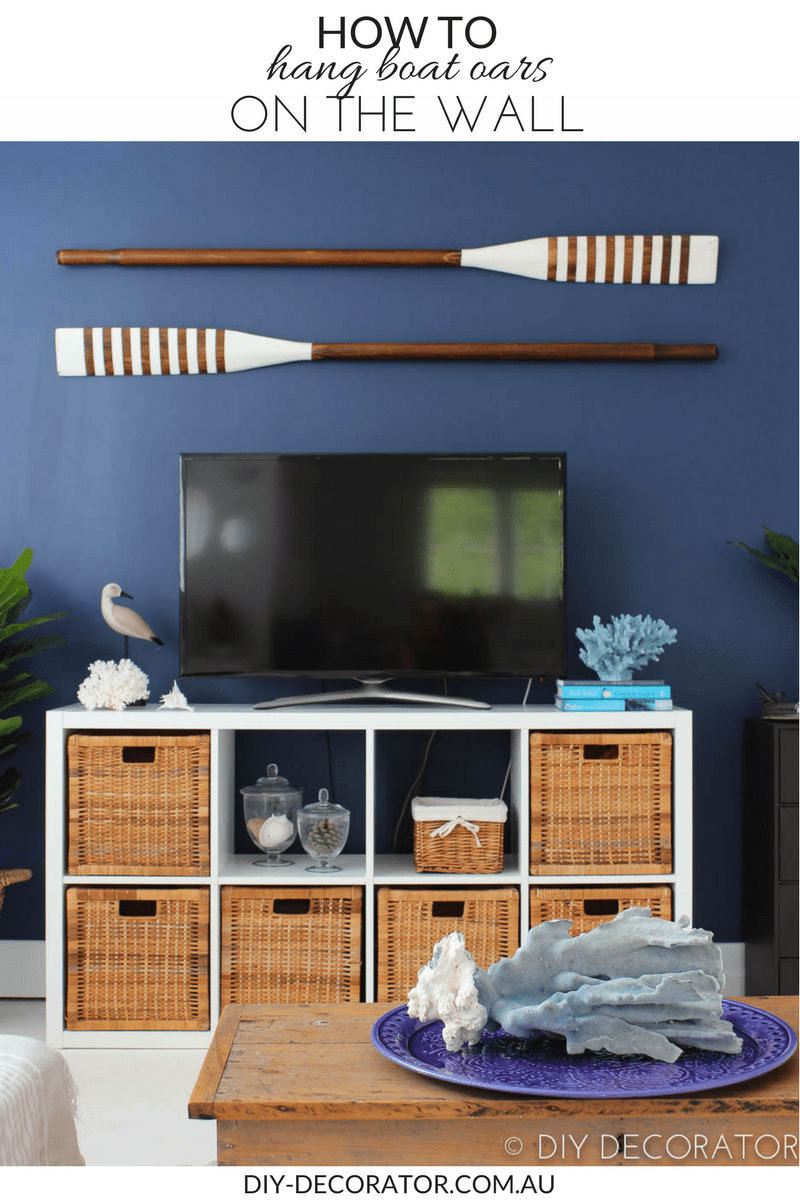 How to Hang Boat Oars on the Wall